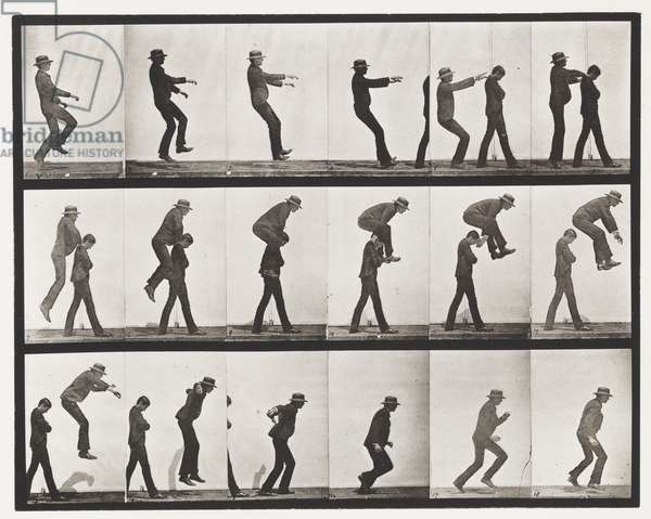 Plate 169. Jumping; over boy's back (leap-frog), 1885 (collotype on paper)