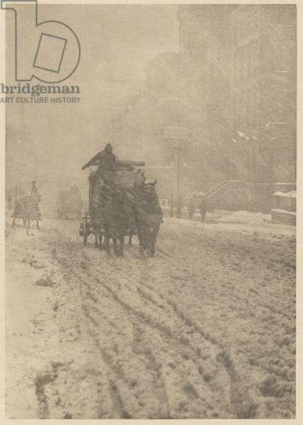 Winter on Fifth Avenue, 1893 (photogravure)