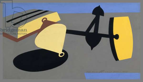 Wharf Objects, 1948 (opaque watercolour on paper)