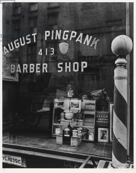 August Pingpank Barber Shop, 1930s, printed 1979 (gelatin silver print)