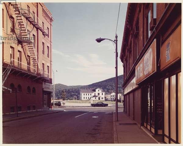 Holden St., North Adams, Massachusetts, neg. 1974, print 1976 (incorporated colour coupler print on paper)