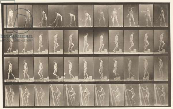 Plate 486. A, Lawn Tennis; B, Ascending a Step, 1872-85 (collotype on paper)