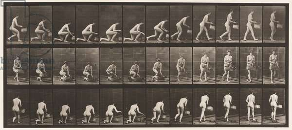 Plate 251. Kneeling on Left Knee, Basket in Left Hand, and Rising, 1872-85 (collotype on paper)