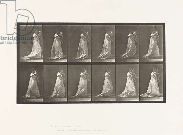 Plate 36. Walking, Carrying Child on Left Arm, 1885 (collotype on paper)