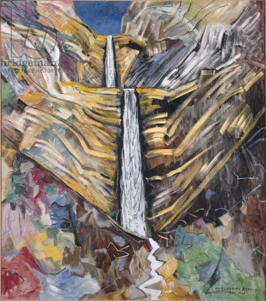 Waterfall in the Desert, 1964-65 (oil on canvas)
