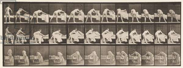 Plate 436. Making Up a Bed, 1872-85 (collotype on paper)