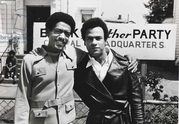 Bobby Seale and Huey Newton in Front of Panther Headquarters in Oakland, 1971 (vintage gelatin silver print)