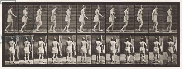 Plate 543. Spastic Gait (Hysterical), Walking, 1885 (collotype on paper)
