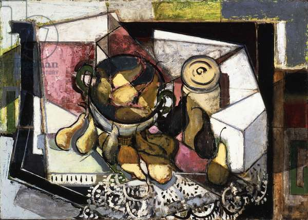 Still Life with Pears, c.1930-31 (oil on board)