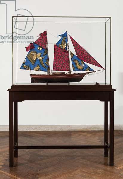 Wanderer, 2006 (wood, plexiglass, fabric, brass)