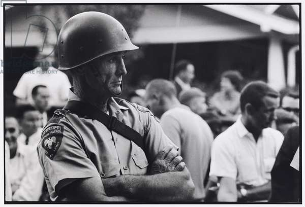 Mississippi National Guard at the University of Mississippi campus as Jame Meredith tries to register as the first black student, September 1962, printed 2008 (gelatin silver print)