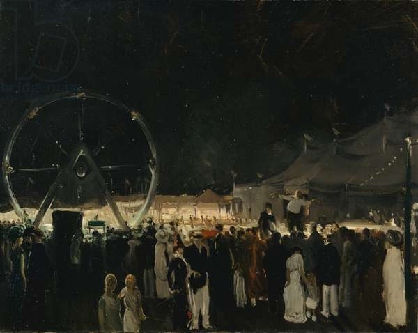 Outside the Big Tent, 1912 (oil on canvas)