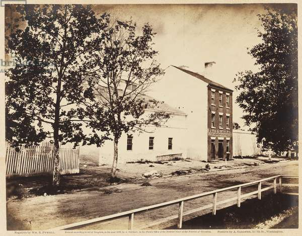 Slave Pen, Alexandria, Virginia, August 1862 (albumen print mounted on wove paper)