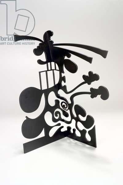 Shadow in a Corner III, 2004 (stainless steel, water-jet cut, painted black urethane)