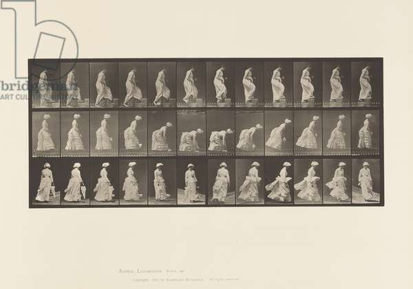 Plate 487.A, Ascending a Step; B, Lifting a Hand-kerchief, 1885 (collotype on paper)
