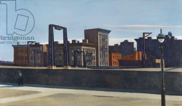 Manhattan Bridge Loop, 1928 (oil on canvas)