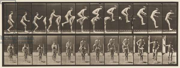 Plate 168. Jumping; Over Boy's Back (Leap Frog), 1885 (collotype on paper)
