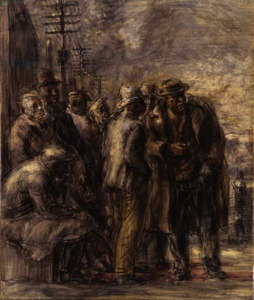 Jobless, 1934 (oil on board)
