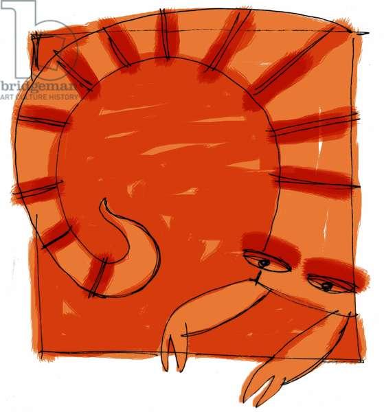 Sign of the Scorpio. Horoscope illustrated by Patrizia La Porta, 2004.