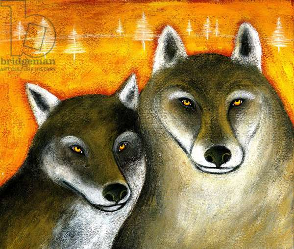 Wolves in the Woods Illustration 2013
