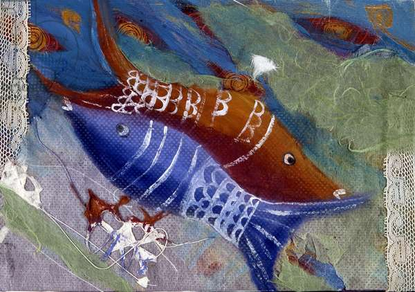 Sign of the Fish. Horoscope illustrated by Patrizia La Porta, 2004.
