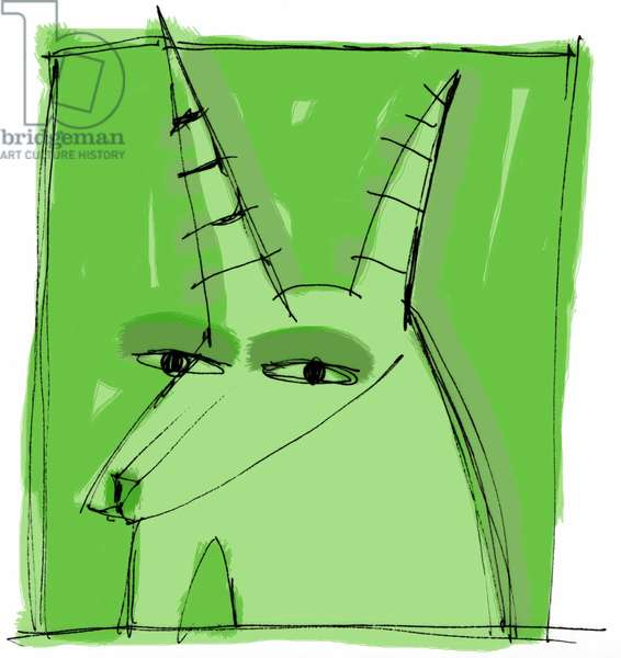Sign of Capricorn. Horoscope illustrated by Patrizia La Porta, 2004.