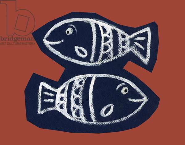 Horoscope: the sign of fish. Illustration by P. La Porta.