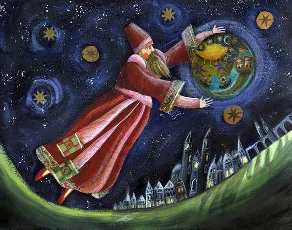 Michel de Nostradamus, astrologer. Illustration by Patrizia La Porta.