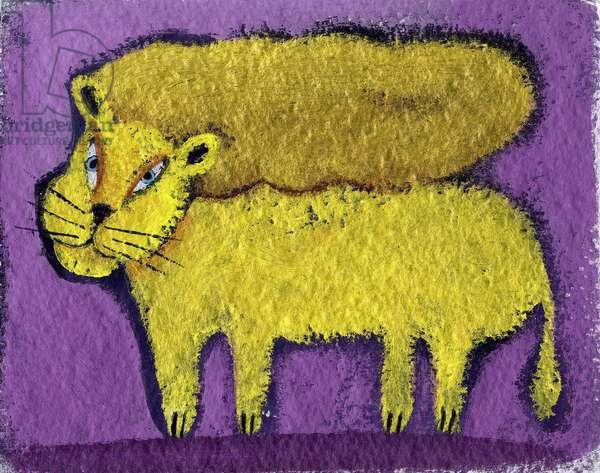 Sign of the lion. Horoscope illustrated by Patrizia La Porta.