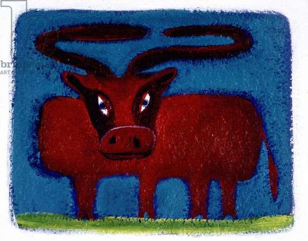 Sign of the bull. Horoscope illustrated by Patrizia La Porta.