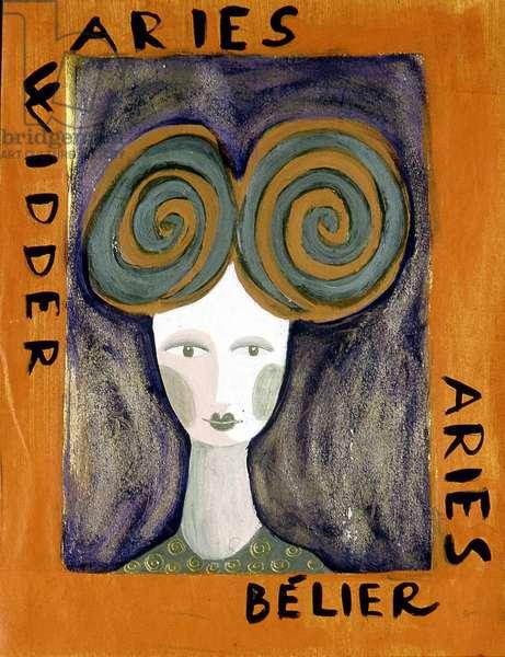 The signs of the zodiac: the ram. Illustration by Patrizia La Porta.