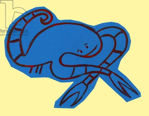 Horoscope: the sign of the scorpion. Illustration by P. La Porta.