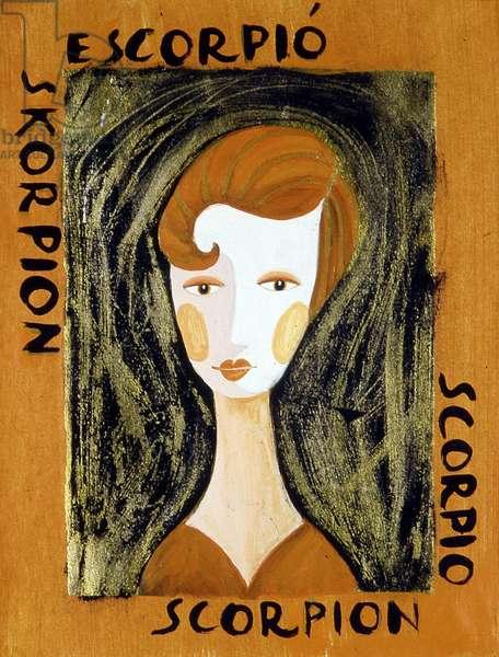 The signs of the zodiac: the scorpion. Illustration by Patrizia La Porta.