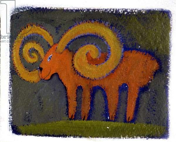 Sign of Aries. Horoscope illustrated by Patrizia La Porta.