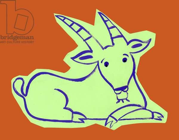 Horoscope: the sign of the capricorn. Illustration by P. La Porta.