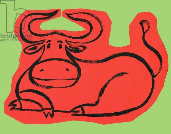Horoscope: the sign of the bull. Illustration by P. La Porta.