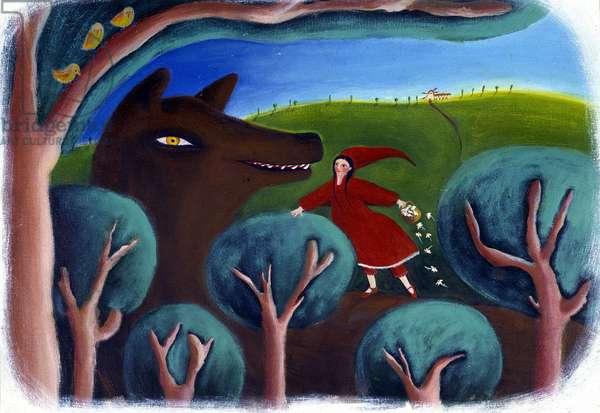 Illustration for Little Red Riding Hood, by Patrizia La Porta