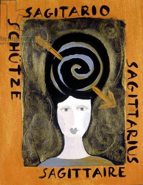 The signs of the zodiac: the sagittarius. Illustration by Patrizia La Porta.