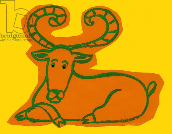 Horoscope: the sign of the ram. Illustration by P. La Porta.