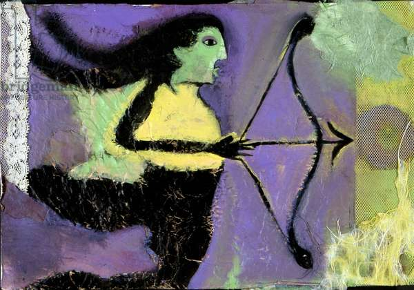 Sign of Sagittarius. Horoscope illustrated by Patrizia La Porta, 2004.