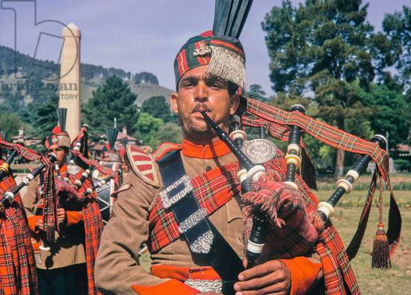 Bagpipes, North West Frontire Regiment, Pakistan, 1969 (photo)