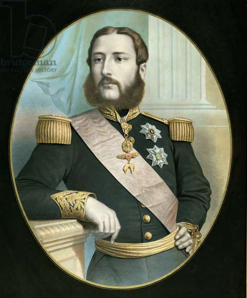 Leopold II (1835-1909) c.1866-67 (oil on canvas)