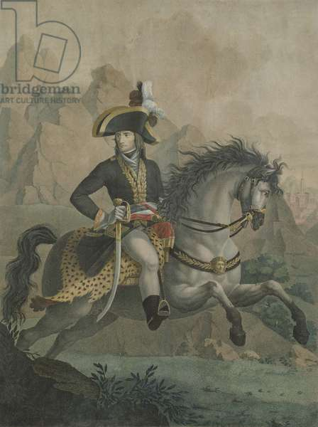 Bonaparte (1769-1821) 1er Consul, from a painting of Andrea Appiani (1754-1817) engraved by J.J.F. Tafsaert (coloured engraving)