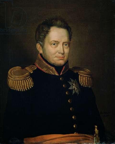 Portrait of Willem Frederik (1772-1843) Prince of Orange, 1830 (oil on canvas)
