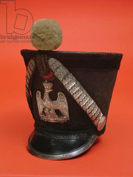 Shako of a lancer of the army of the First French Empire, c.1804-1815 (textile)