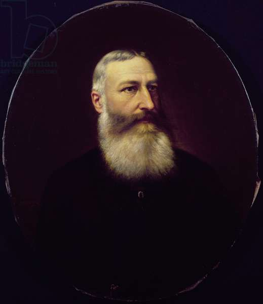 Leopold II (1835-1909) of Saxe-Cobourg-Gotha (oil on canvas)