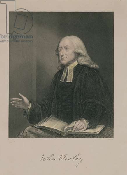 Portrait of John Wesley (1703-91) engraved by William Holl (1807-71) pub. by A. Fullarton & Co. (engraving)
