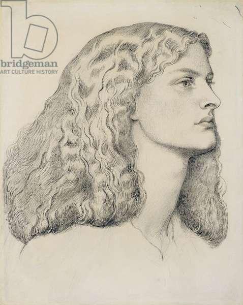 Portrait of Annie Miller, c.1860 (pencil, pen, ink & wash on paper)