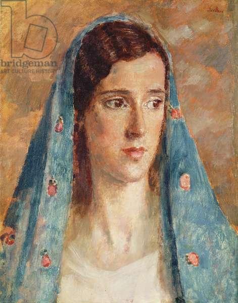The Irish Girl, Portrait of Dorrie John (oil on canvas)