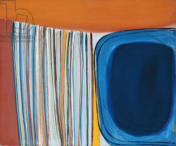 Mars Orange and Blue, 1961 (oil on canvas)
